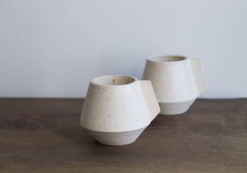 Cups by Cóte García Ceramics seen at Private Residence, Brooklyn - Altiplana Mug / White Speckle
