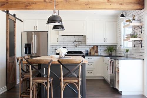 Cabinetry, island, bar, pantry | Interior Design by Hamilton Holmes