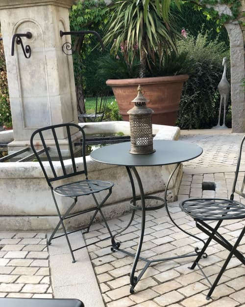 Chairs by Chelsea Textiles seen at Private Residence - Metal Outdoor Furnitur
