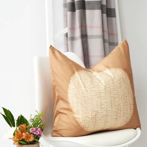 Shunya Gold Silk Pillow | Pillows by Studio Variously