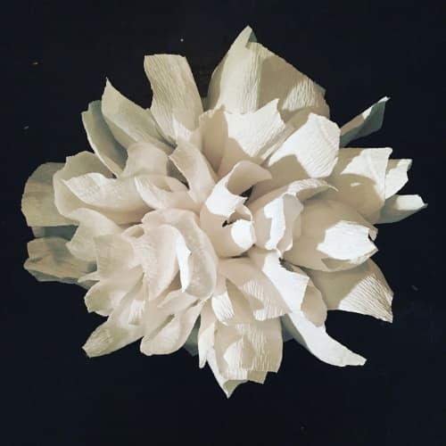 Sculptures by Stephanie Echeveste - White Floral Wall Sculpture