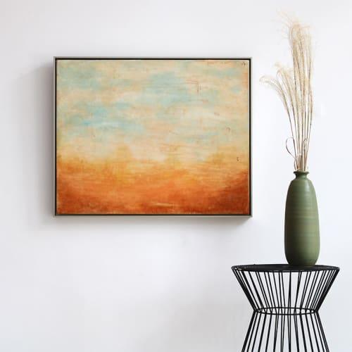 Morning Glow Encaustic Painting   Paintings by Linda Cordner