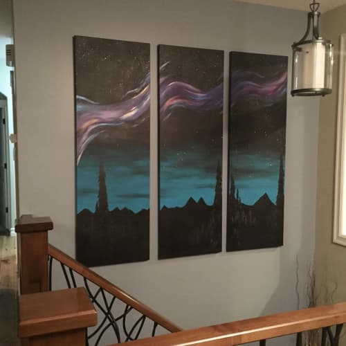 Paintings by Aimy Van der linden seen at Private Residence, De Winton - Past the City