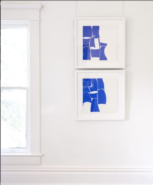 Summer_M, Summer_N, 2018   Paintings by Joanne Freeman   Blue Print Gallery in Dallas