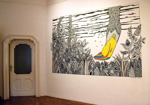 "Murals by Melinda Šefčić at Galerija ""Dr. Vinko Perčić, Subotica - Introspection"