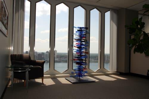 Public Sculptures by April Wagner, epiphany studios seen at Detroit Regional Chamber, Detroit - Backbone