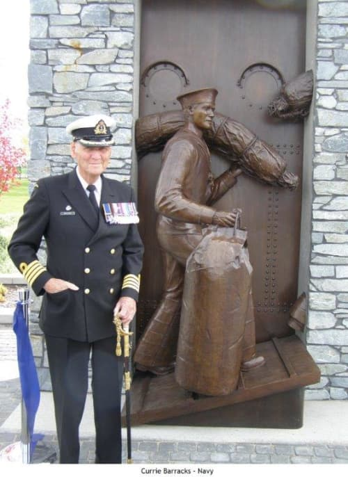 Currie Barracks WWII Commemorative Navy Statue   Public Sculptures by Don Begg / Studio West Bronze Foundry & Art Gallery