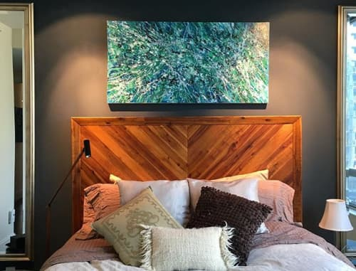 Splatter Abstraction XII | Paintings by Erin Cooke | Private Residence, Seattle in Seattle