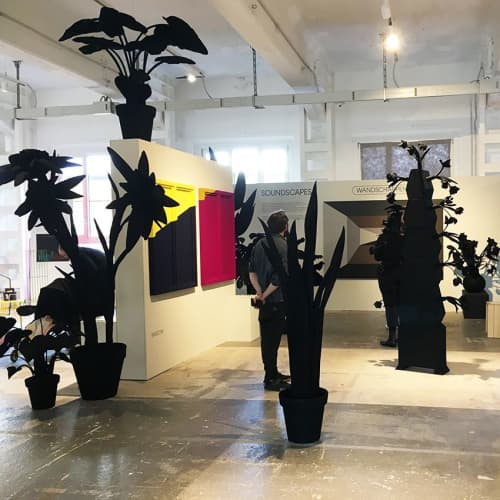 SOUNDSCAPES & Felt Plant Collection Black   Art & Wall Decor by Driessens & van den Baar WANDSCHAPPEN   Ventura Future in Milano