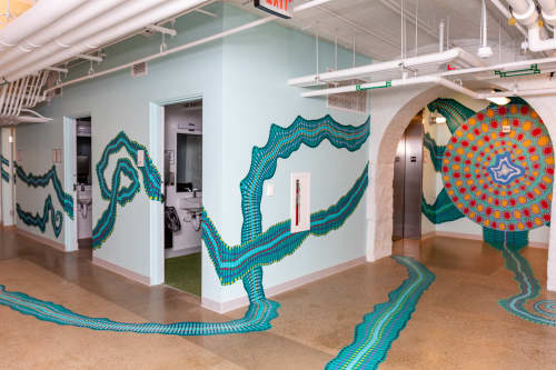 Murals by Maureen Walsh seen at Children's Museum of Pittsburgh, Pittsburgh - Chromatic Passage