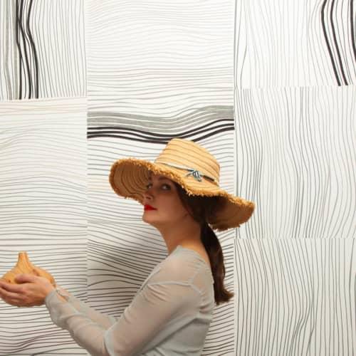 Wallpaper by Jill Malek Wallpaper - Nest   Coffee Gray
