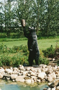 Black Bear | Public Sculptures by Don Begg / Studio West Bronze Foundry & Art Gallery | Calgary in Calgary