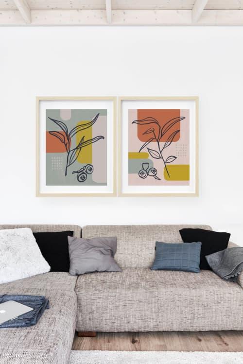 Paintings by Birdsong Prints - Set of 2 Botanical Art Prints