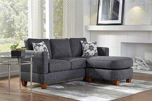 Brandon sofa with chaise   Couches & Sofas by Simplicity Sofas - Furniture for Small Spaces & Tight Places