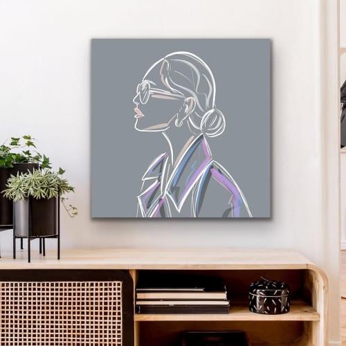 Paintings by By Lauren P seen at Private Residence, Toronto - Bottega Venetta Inspired Print