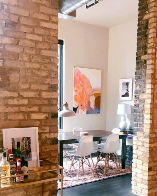 Paintings by Christina Persika seen at Historic Third Ward, Milwaukee - Abstract Painting