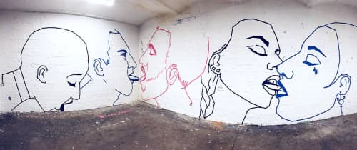 "Live Tape Art Performance ""Spring"" | Murals by Fabifa | X LANE in Berlin"