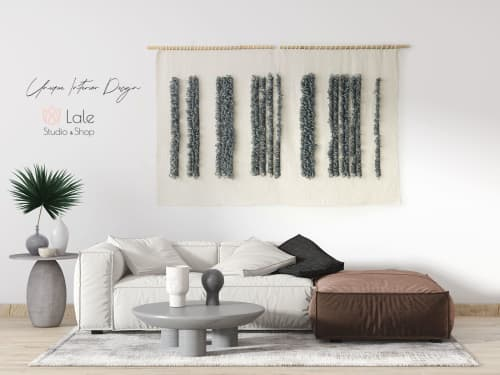 Luna - textile wall hanging   Wall Hangings by Lale Studio