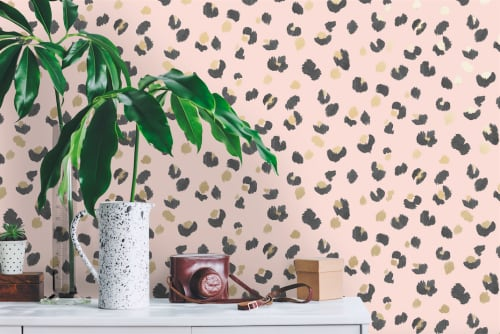 Wallpaper by Fancify Wall Murals & Wallpaper - Amur Pink Wallpaper in Homeware Store