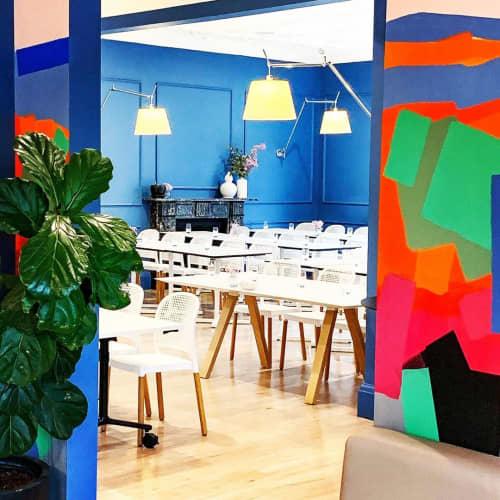 Murals by Larissa Blake at Zona Kitchen Bar Events, Orange - Zona Kitchen Mural