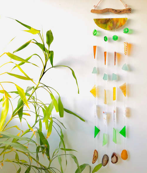 Meditation Glass Wind Chime | Wall Hangings by Samara Designs