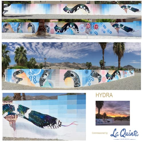 Murals by John Cuevas seen at 78232 Avenida La Fonda, La Quinta - Hydra