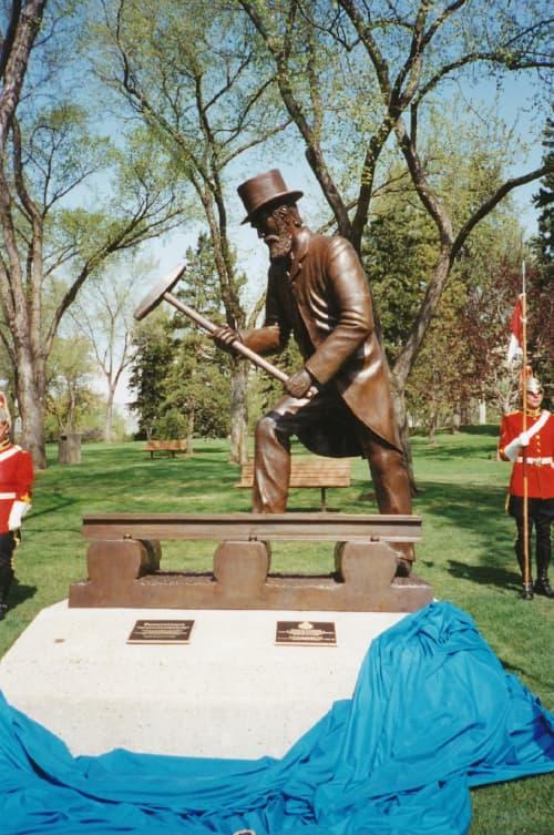 Perseverance | Public Sculptures by Don Begg / Studio West Bronze Foundry & Art Gallery | Alberta Legislature Grounds in Edmonton