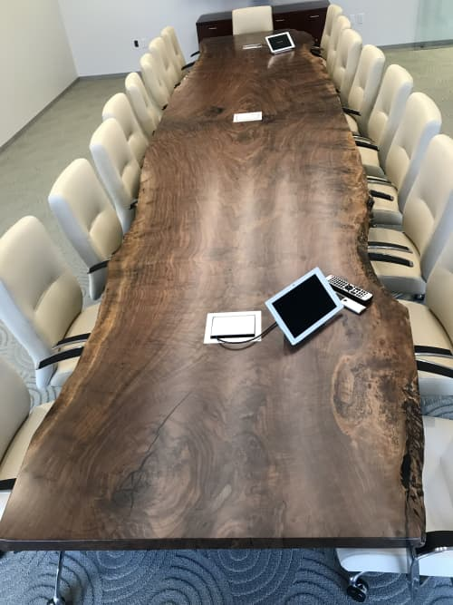 Claro Walnut Live Edge Conference Table   Tables by Alabama Sawyer