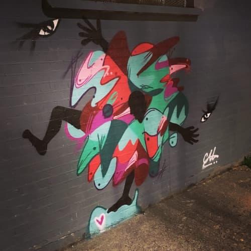Street Murals by Cal Lewis - Sore eyes