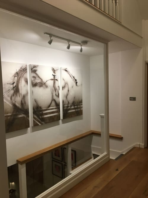 Paintings by Donna B Fine Art, Donna Bernstein, Artist seen at Private Residence, London - Two Horses