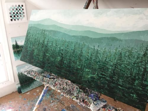 Paintings by Ann Marie Coolick Fine Art - Oregon Pines Original Painting