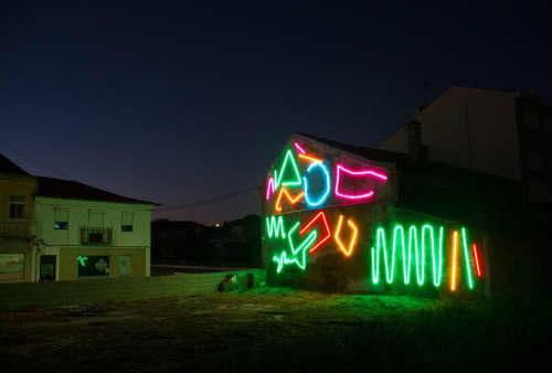 Interactive Neon Mural #1 | Street Murals by Spidertag