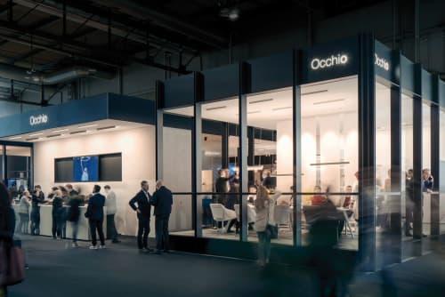 Booth at Euroluce 2019, Occhio   Interior Design by 1zu33 Architectural Brand Identity