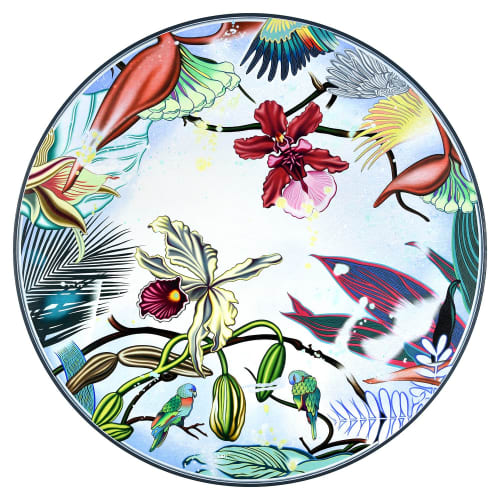"""Paintings by Peter D. Gerakaris Studio at The Brooklyn Home Company, Brooklyn - """"Orchid Oculus Tondo"""" - NYC Exhibit"""