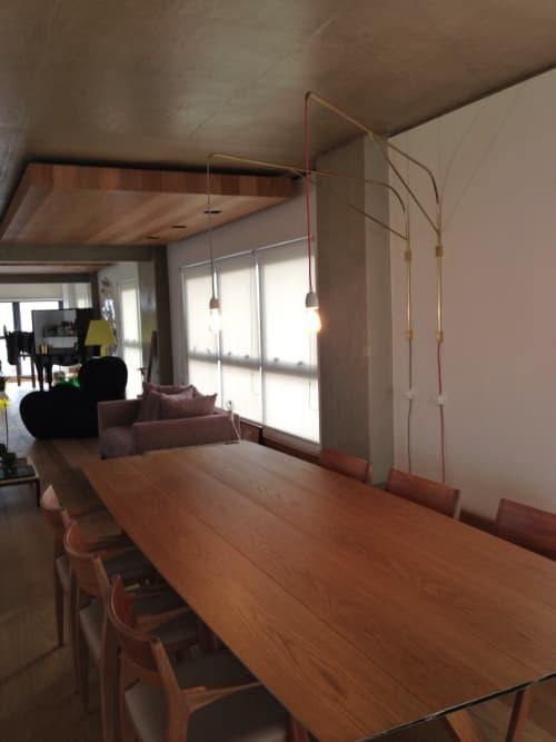 Lighting by Estudio Manus seen at Private Residence, São Paulo - Double Brass Hinged Lamp #2