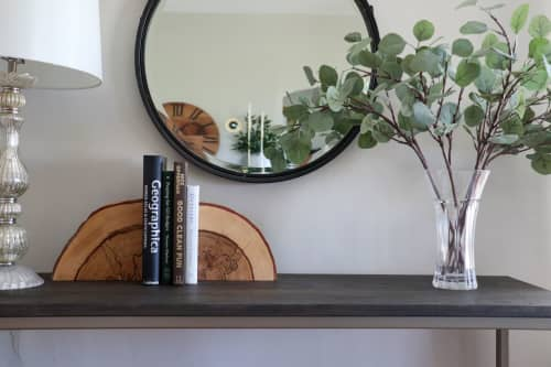 Spalted Hickory Solid Wood Bookends | Sculptures by Hazel Oak Farms