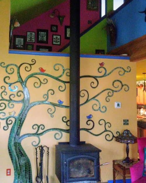 Art & Wall Decor by JK Mosaic, LLC seen at Private Residence - Tree Tile Mosaic