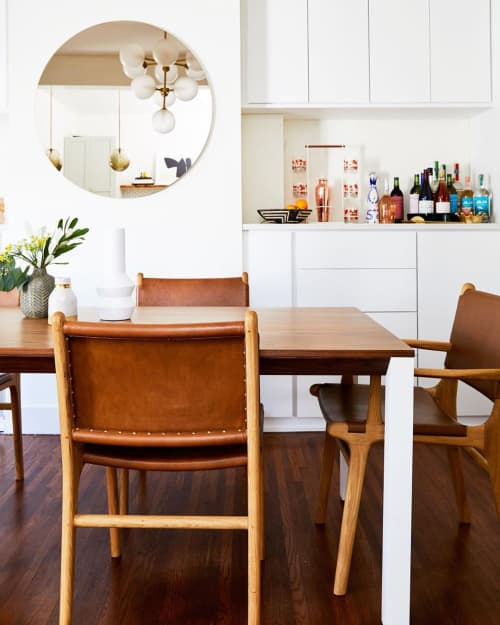 Chairs by Barnaby Lane seen at Private Residence, San Francisco - Spensley Oak Dining Chairs - Tan