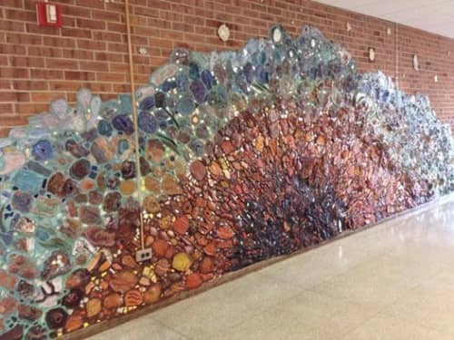 Handmade Tile Mural | Public Sculptures by Rhoda Kahler | Valley Forge Middle School in Wayne