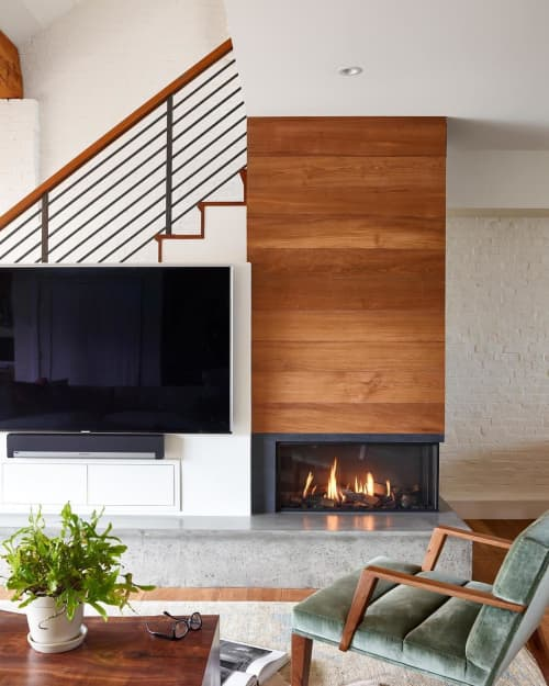 Fireplaces by European Home seen at Private Residence, Boston - Bidore 95 Gas Fireplace