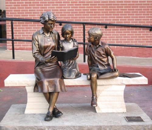 Public Sculptures by Sutton Betti seen at Mountain View Presbyterian Church, Loveland - Sowing Seeds