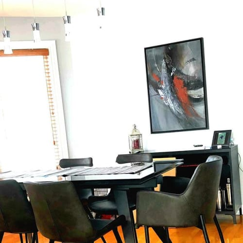 Commissioned Painting in | Interior Design by Johanne Brouillette