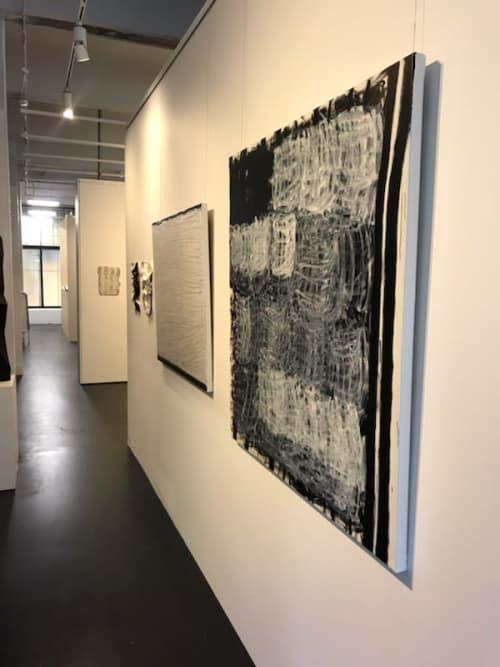 Veiled White Marks   Paintings by Terri Brooks