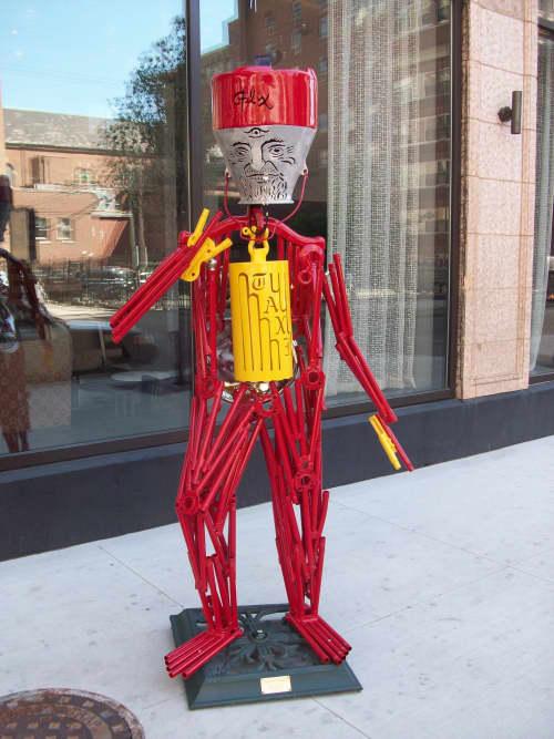Sculptures by Allen Christian seen at 111 W Huron St, Chicago - Sculptures
