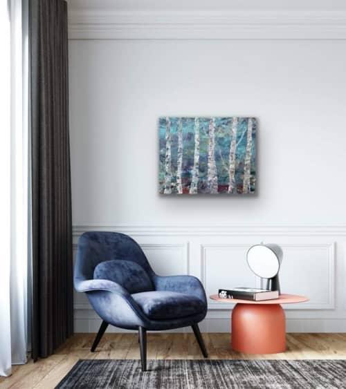 Paintings by Mireille Laroche seen at Creator's Studio, Ottawa - I Found my way
