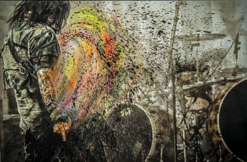 Paintings by Pete Kasprzak seen at Private Residence, Calabasas - Rock Ink. - Motley