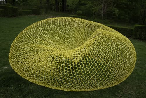 Vortex   Public Sculptures by John Ruppert   Ladew Topiary Gardens in Monkton
