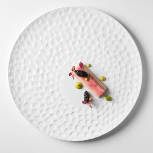 Texture plate Escamas | Ceramic Plates by Mieke Cuppen | Arany Kaviár Étterem in Budapest