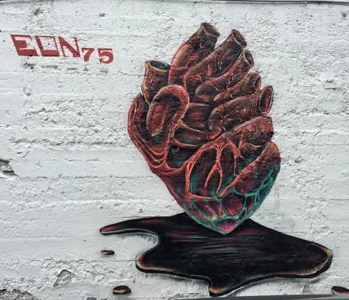 Street Murals by Max Ehrman (Eon75) seen at Tenderloin, San Francisco - I Love the Tenderloin