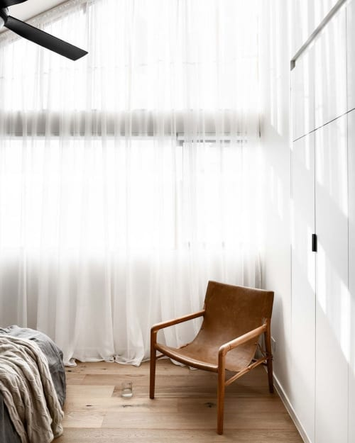 Chairs by Barnaby Lane seen at Private Residence, Melbourne - Smith Full Leather Oak - Tan